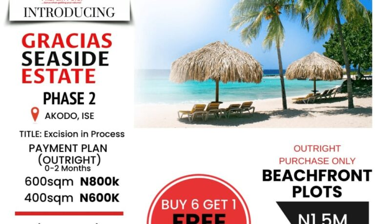 GRACIAS  SEASIDE ESTATE 2 – Akodo Ise Town, Ibeju Lekki, Lagos